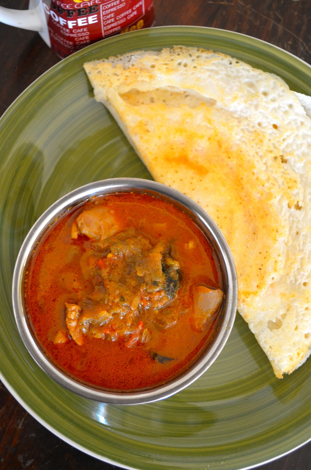 Dishing With Divya Nadan Erachi Curry Kerala Chicken Curry Country Side Chicken Curry