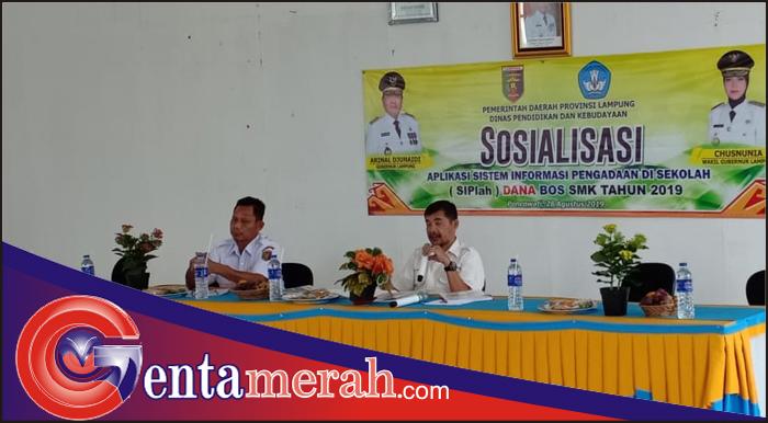 Persiapkan Diri Penggunaan Dana Bos Sistem Aplikasi, MKKS SMK Lamteng Gelar Sosialisasi SIPlah