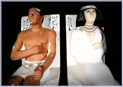Statues and Rahotep Nofret