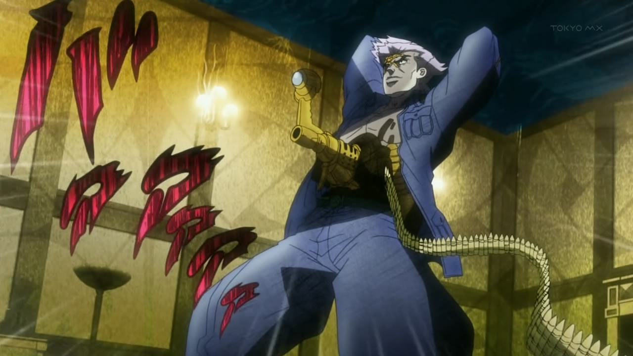 the center of anime and toku jojo s bizarre adventure 19 a cyborg