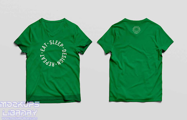 t shirt mockup front and back psd 2