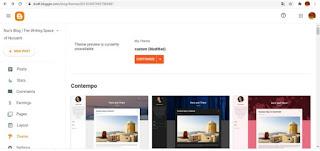 Cara memasang template di Blog