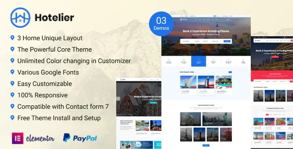 Best Premium WordPress Hotel Booking Theme