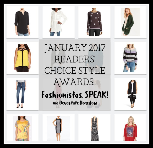 January 2017 Reader's Choice Fashion Picks -- Style Inspiration!  Fashionista trending clothing and outfit ideas, via Devastate Boredom