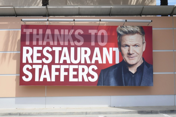 Thanks Restaurant Staffers Gordon Ramsey billboard