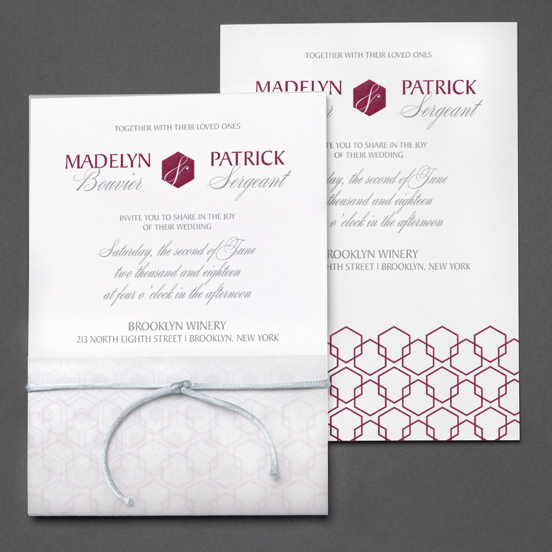 Occasions to blog geometric designed wedding invitations translucent links stopboris Image collections