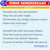 Lirik Lagu Wajib Nasional Hymne Kemerdekaan Cipt Ibu Sud + Makna/Artinya
