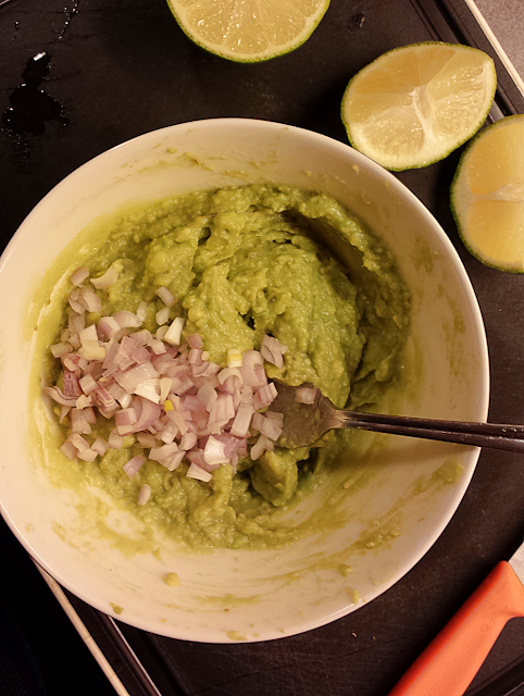 DIY homemade guacamole for taco nights