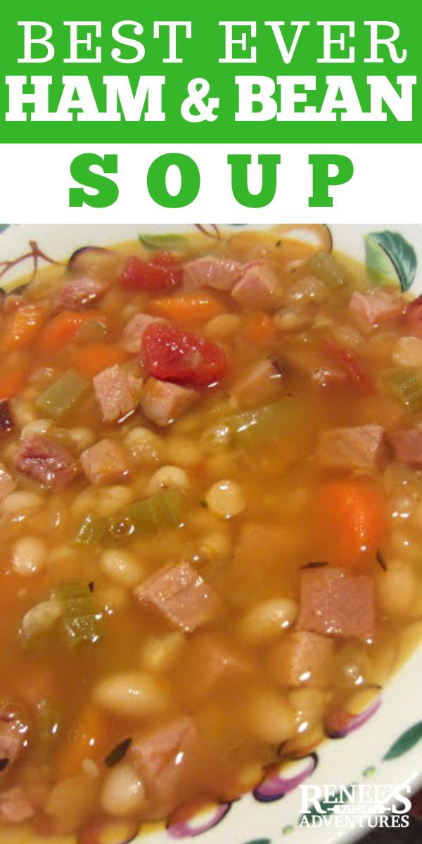 Ham and Bean Soup pin