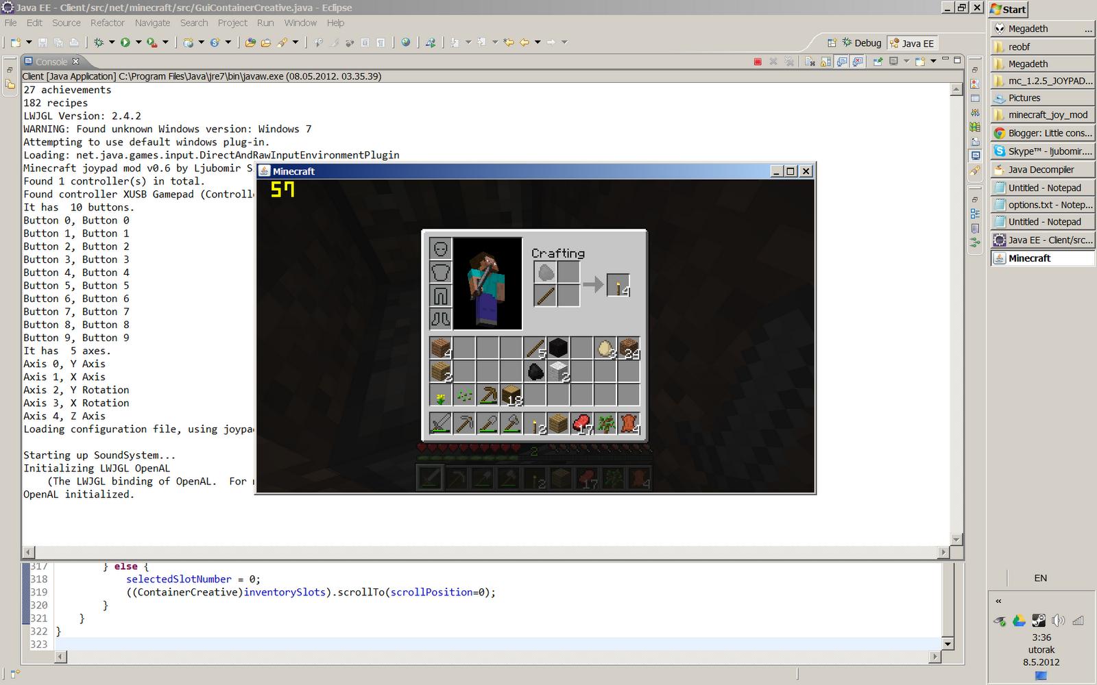 Little console hacker's corner: Playing Minecraft in split screen on
