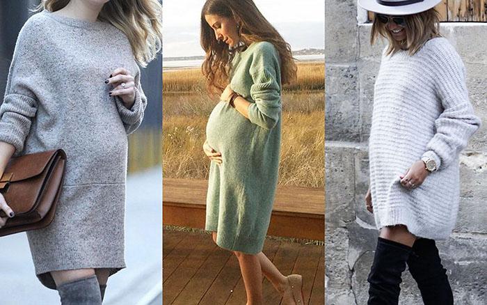 71670b0342933 2-- الفستان الشتوي الطويل أو الـ Sweater dress فهو من الصيحات الرائجة جدا  في موضة 2018