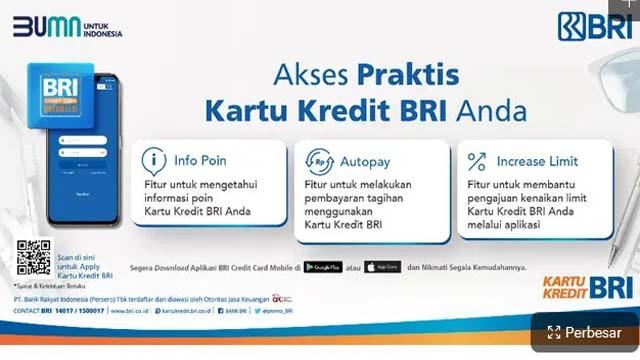 3 Fitur Baru di Aplikasi Credit Card Mobile Jadi Inovasi Bank BRI untuk Nasabah Setia