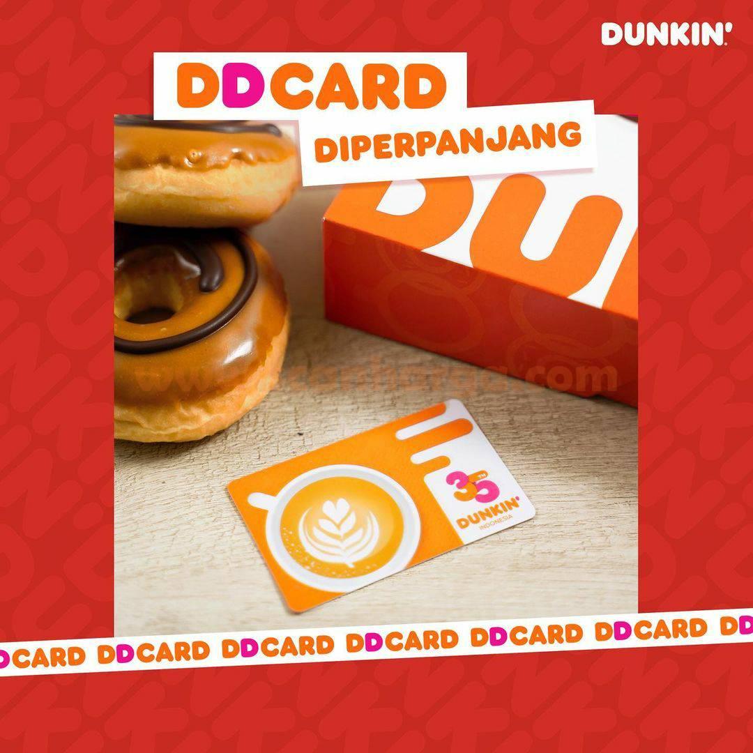 Dunkin Donuts Promo GRATIS 5 DONUT tiap pembelian 7 Donut Classic dengan DD Card