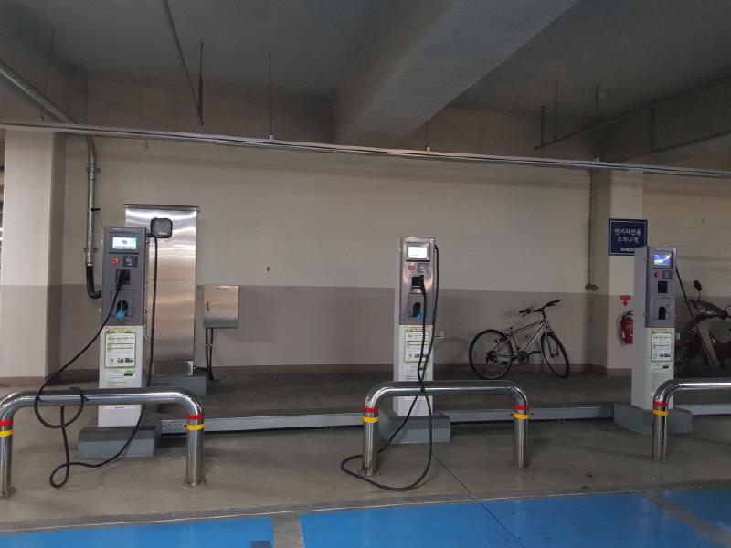 경기도시공사 시행 아파트단지에 전기차 충전시설 확대 설치