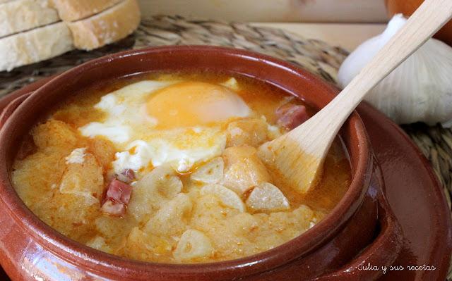 Sopa de ajo o castellana