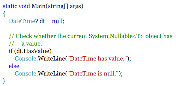 assign null for you to datetime