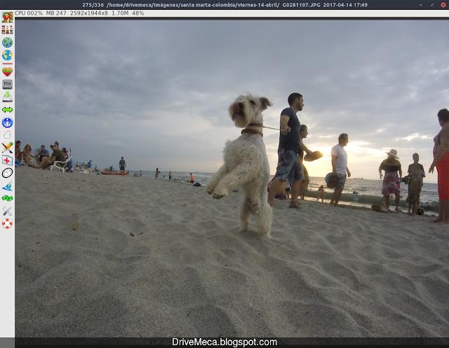 En Fotoxx podemos abrir las imagenes y editarlas directamente