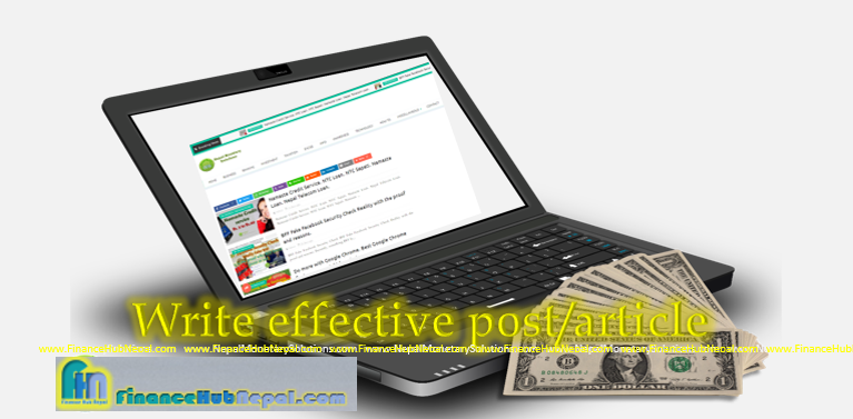 Write effective post/article