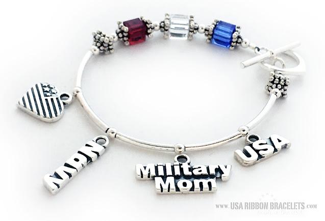 Red White & Blue Bracelet for Navy Moms for Mother's Day