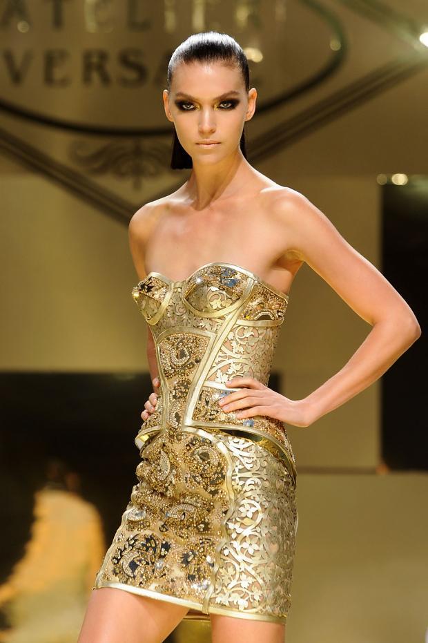 Corinna B S World Paris Fashion Week Spring 2012 Versace