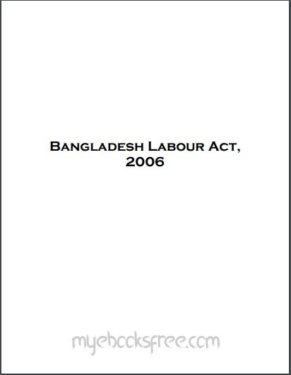The Bangladesh Labour Act Pdf Book By Dhaka Law Reports