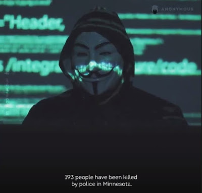 anonymous activist group names minneapolis department in george floyd imjustice,as well as donald trump,jeffrey epstein,naomi campbell,chris tucker
