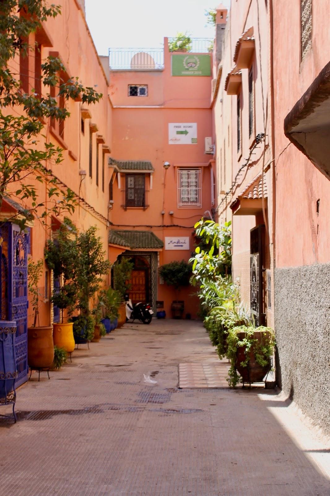Peach Marrakech Side Street