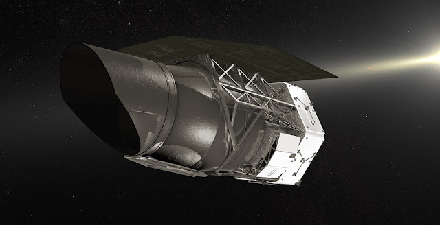 Artist's rendering of NASA's Wide Field Infrared Survey Telescope. Credit: NASA's Goddard Space Flight Center/CI Lab