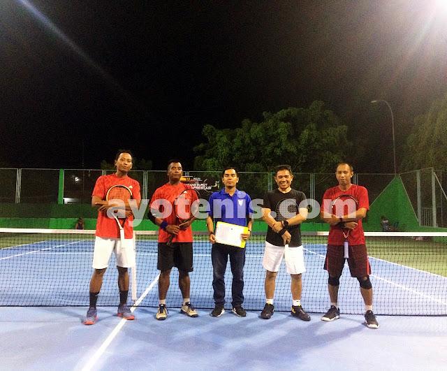 Duet Tuan Rumah Melaju ke Final KU 95 Kejuaraan Tenis KONI Kukar Open 2020