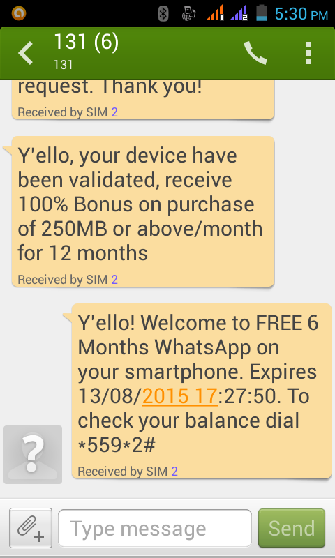 Free  Unlimited 250MB On Your MTN Sim Card