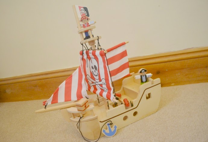 asda pirate ship, bargain wooden pirate ship