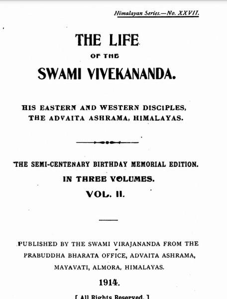 The life of the swami Vivekananda in pdf
