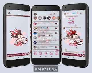 Minnie Azul Theme For YOWhatsApp & KM WhatsApp By Luna