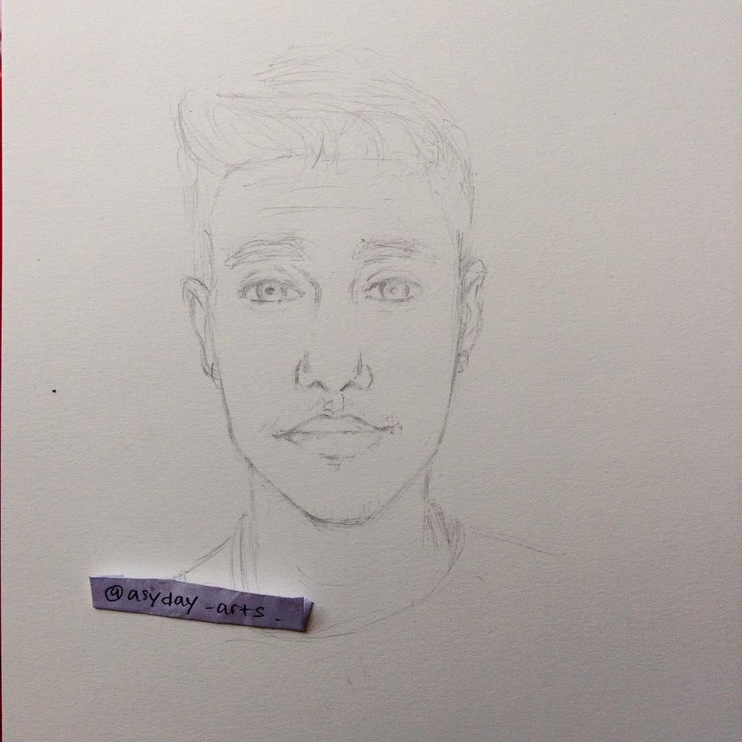 Kumpulan Cara Gambar Sketsa Justin Bieber