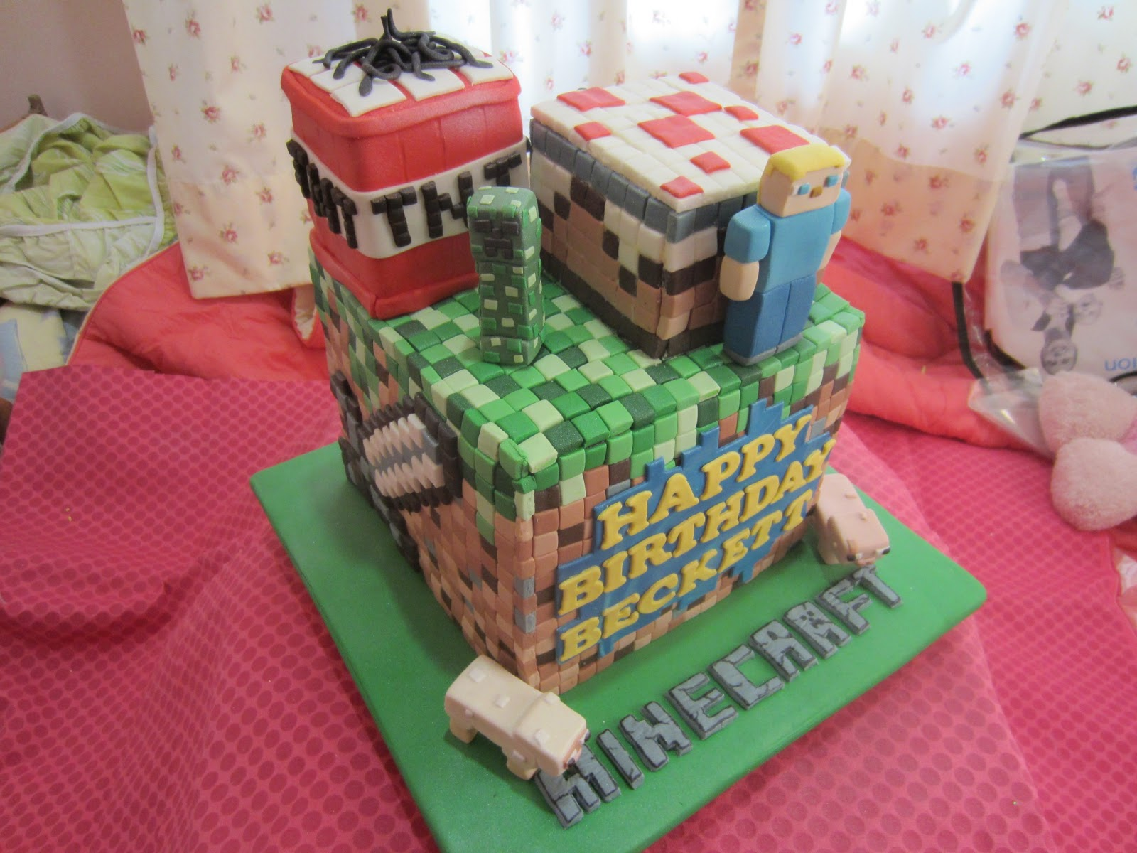 Home Mayde Cakes The Making Minecraft Cake