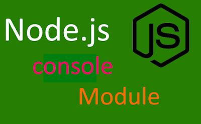 nodejs console module