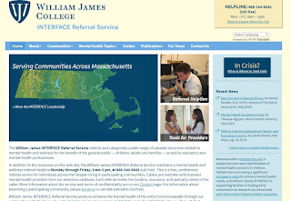 William James College INTERFACE Referral Service  interface.williamjames.edu