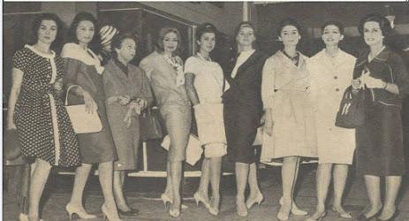 ٍSaleha Aflatoun, the third from the left followed by Laila Shoeir then Ragaa