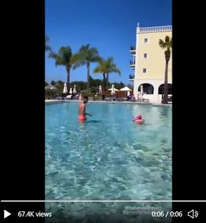 Video: Bruno Fernandes Caught having nice holiday time with daughter and wife in Portugal