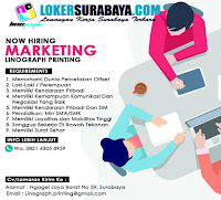 Info Loker Surabaya di Linograph Printing Juni 2020