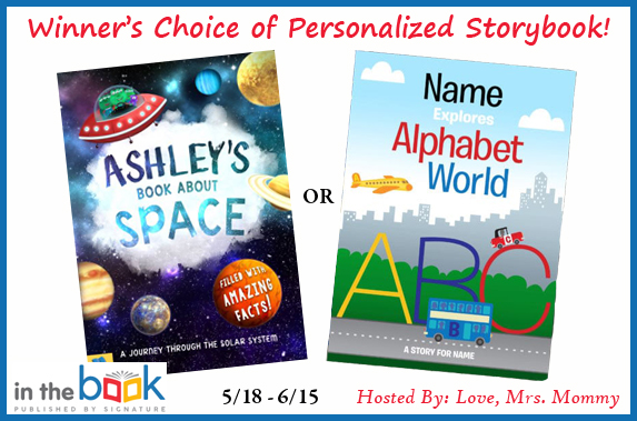 win a personalized storybook, space kids book, abc book, alphabet book, solar system book