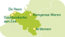 Sunparks Ferienparks Karte