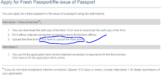 Step 3: apply for Fresh Passport\Re-issue Passport Offline image