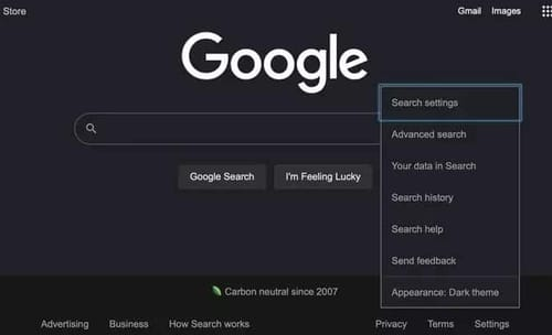 Google search engine officially gets dark mode