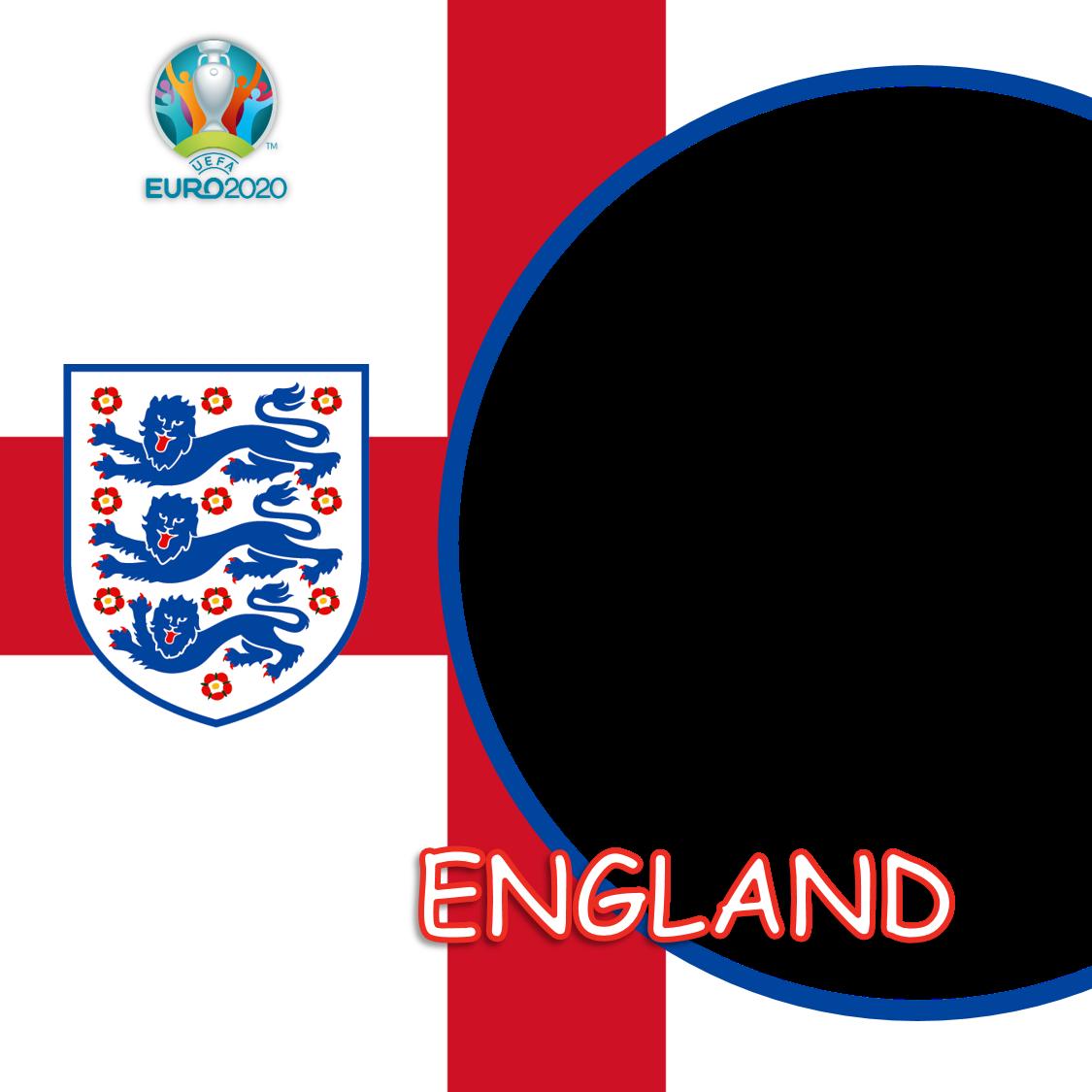 Frame Bingkai Keren Twibbon Inggris Euro 2020 - England Euro 2021