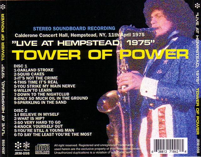 T U B E : Tower of Power - 1975-04-11 - Hempstead, NY (SBD/FLAC)