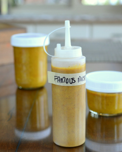 Famous Mustard Sauce ♥ KitchenParade.com, Carolina BBQ mustard sauce from a handful of pantry ingredients, use as an ingredient and a condiment!