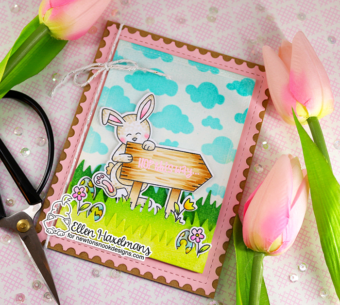 #newtonsnookdesigns #nnd #card #cardmaking #stamps #distress #ink #handmade #stamp #set #dies #blog #hop #2021 #Easter #release #paperart #hobby #drawing #Release #February #BasketWeave  #SpringRoundabout  #HoppyGreetings #HareMail #Envelope #Copicmarkers #copicchart #Copiccoloring #bunny #hare