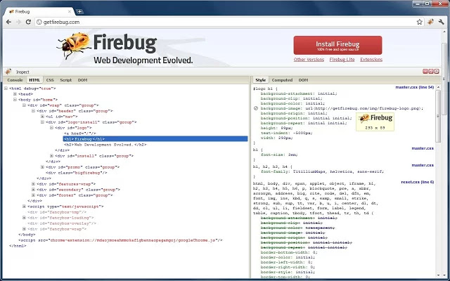 Firebug for Chrome