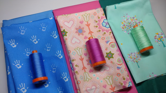 Playroom fabric and Aurifil thread